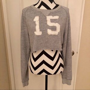 Abercrombie & Fitch Grey Crop Sweatshirt M
